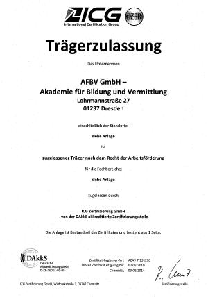 AZAV Zertifikat ICG